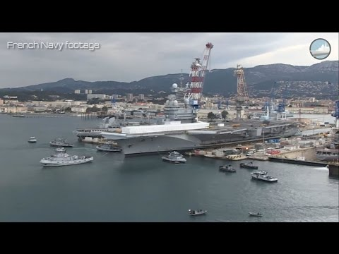 French Navy Aircraft Carrier Charles de Gaulle Mid-life Refit
