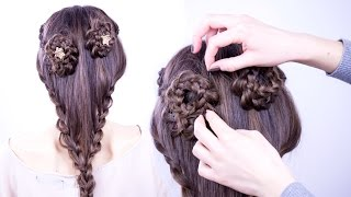 Braided Flowers Hair Tutorial