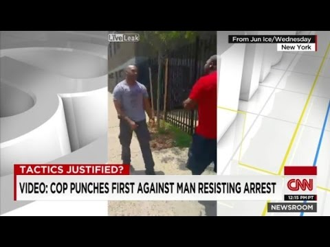 Video shows cop and suspect fight it out before arrest