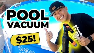 Intex Pool Vacuum for $25!?! [Best for Above Ground Pools] to Suck up Algae, Leaves Cheap How To