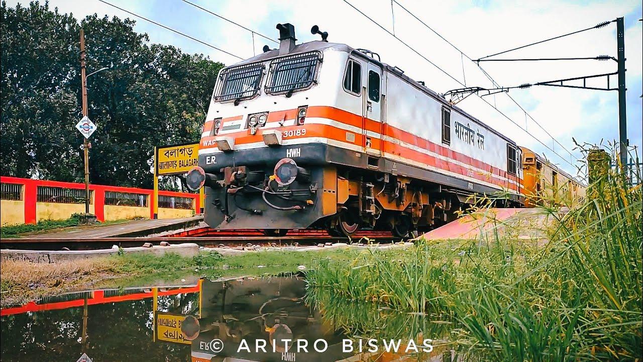 Fastest Electric locomotive WAP 5 on duty with Malda Town-Howrah Intercity Express