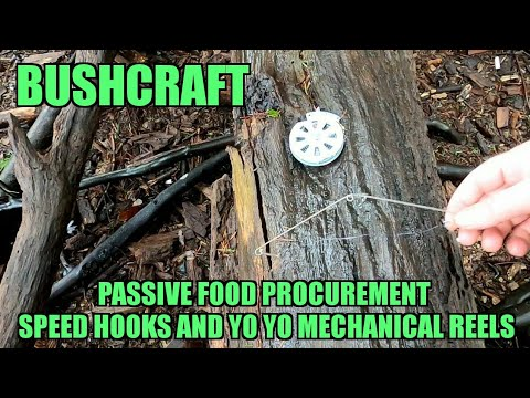 BUSHCRAFT PASSIVE FOOD PROCUREMENT - SPEED HOOKS AND YO YO MECHANICAL REELS