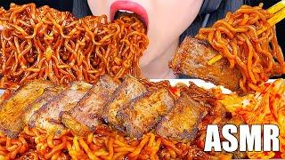 ASMR Ram-Don JJAPAGURI Noodles 기생충 짜파게티 Parasite Movie STEAK BLACK BEAN NOODLES (JJAPAGURI NOODLES)