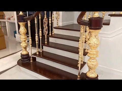 Cầu thang kính - Các mẫu cầu thang gỗ sắt kính đẹp được làm nhiều nhất hiện nay