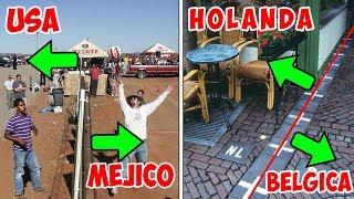 8 increíbles fronteras entre diferentes países alrededor del mundo