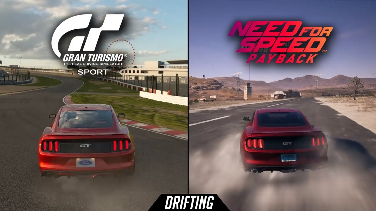 Nfs Payback Vs Gt Sport Drifting Comparison With Ford Mustang Gt Youtube