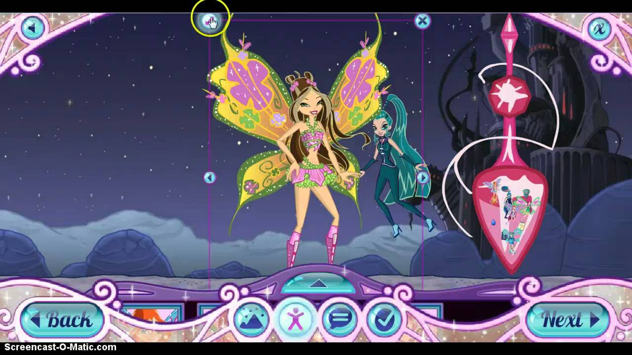 my winx dress me up unifeed club
