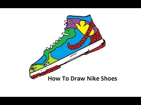 How To Draw Nike Shoes For Kids Step By Step Easily Drawing