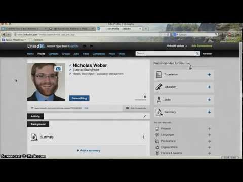 Creating a LinkedIn Profile for Actuaries