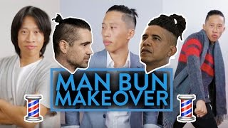 MAN BUN MAKEOVER! | Fung Bros