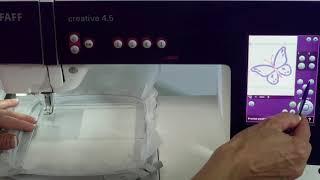 PFAFF creative 4.5 100 Embroidery Corner to Corner Check
