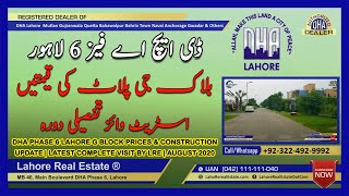 DHA Phase 6 Lahore G Block Prices & Construction Update | Latest Complete Visit by LRE | August 2020