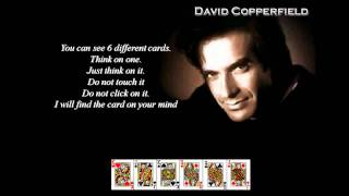 David Copperfield - Master of Illusion - LIVE COMPUTER MAGIC CARD TRICK!