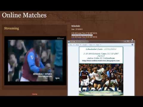 Aston Villa VS Tottenham Hotspur Streaming Online HD