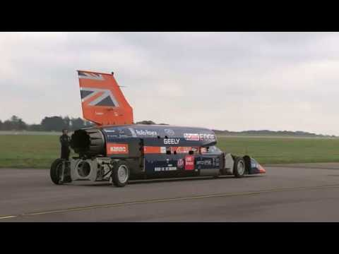 Supersonic Bloodhound car carries out first run