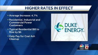 Duke Energy Rate Hike Now In Effect