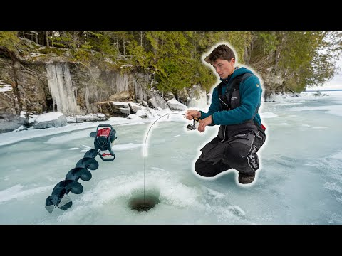 Ice Fishing Mountain Lakes For Rare Trout (Maine BACKCOUNTRY Mission)