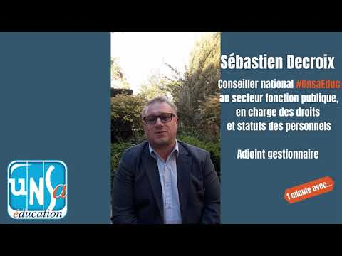 #1minuteAvec Sébastien Decroix, Conseiller National #UnsaEduc - #ComitéMédical