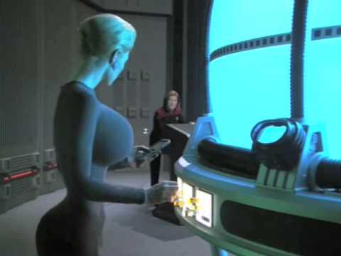 Jeri Ryan (Seven of Nine) Breast Expansion Morph in Star Trek video 4
