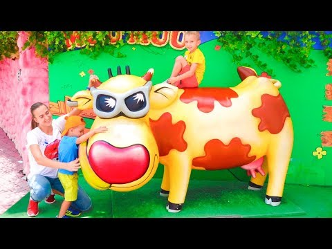 The Best Outdoor Playground For Kids Funny Playtime In Theme Park With Vlad And Nikita