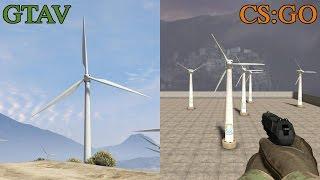 Blender GTA 5 - Wind power (風力發電模型)