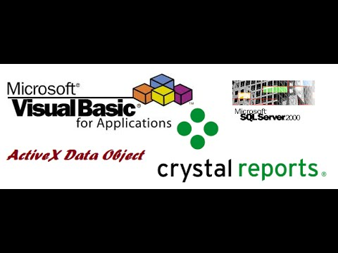 Connect Crystal Report to SQL Server and call from VB6.