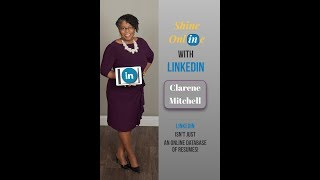 Shine Online with LinkedIn Book by Clarene Mitchell