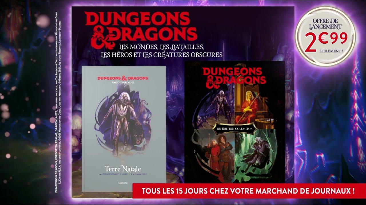 """Musique de la pub Dungeons & Dragons n°1 Hachette """"les mondes – batailles – héros – créatures obscures""""  2021"""