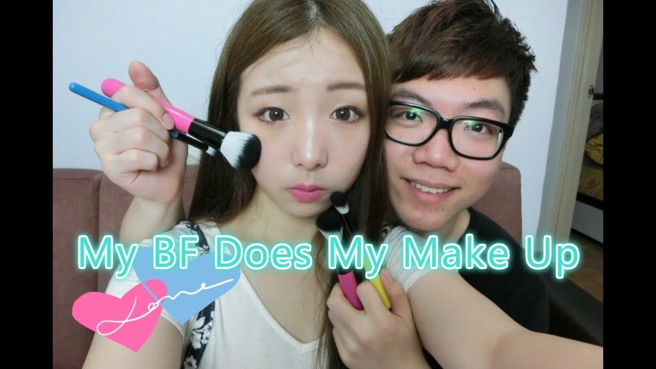 Miss Cool 箍牙妹 - 調教男友EP2 男朋友幫我化妝♡ My Boyfriend Does My Make Up - YouTube