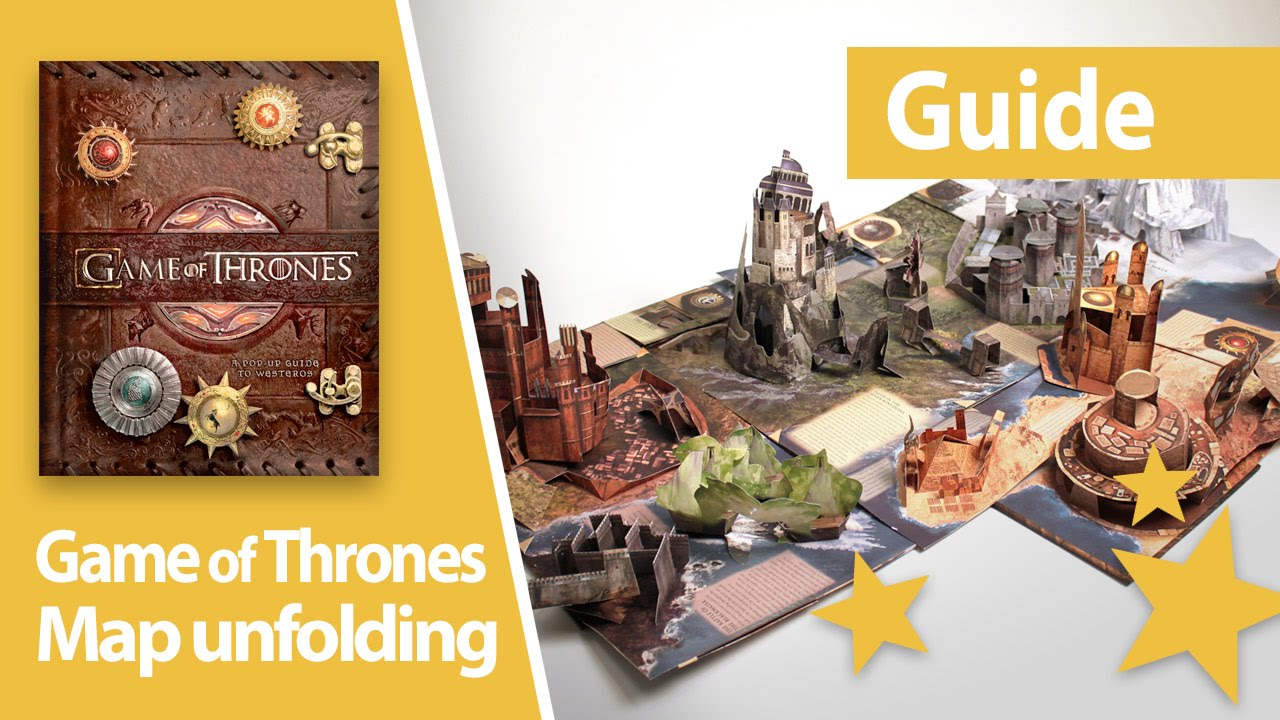 Unfolding the map of westeros game of thrones pop up book guide unfolding the map of westeros game of thrones pop up book guide youtube gumiabroncs Gallery