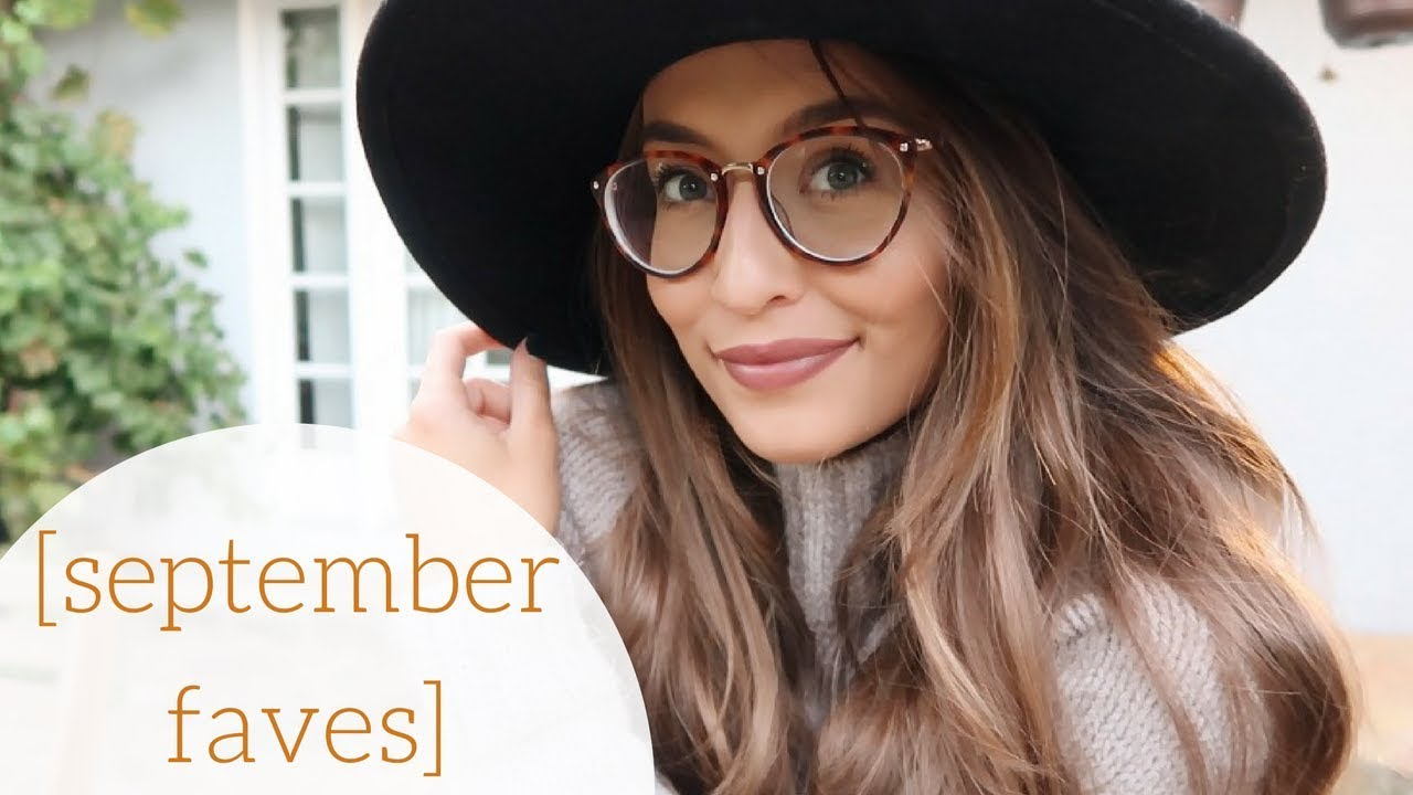 03ca515ffe99 SEPTEMBER FAVORITES    new glasses   home things! - YouTube