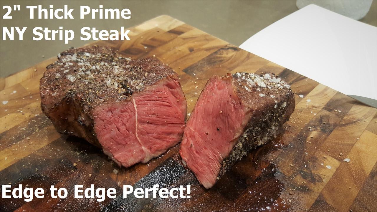 2 thick prime ny strip steak cooked sous vide youtube. Black Bedroom Furniture Sets. Home Design Ideas