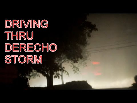 Driving in Derecho Thunderstorm Washington DC Area
