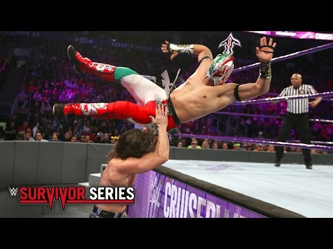Kalisto vs. Brian Kendrick - WWE Cruiserweight Title Match: Survivor Series 2016 on WWE Network
