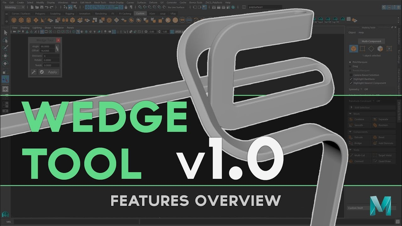Wedge Tool v1 0 - Script for Maya