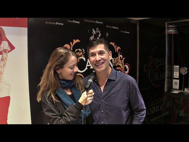 Musical Calles de tango, Mario Morales entrevista por Elena Fernandez de Barcelona
