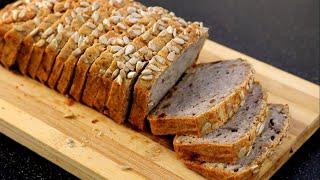 Не только полезно но и вкусно Безглютеновый Хлеб без дрожжей и закваски Подробный рецепт