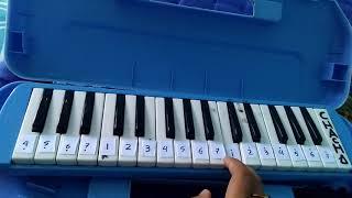 Not angka Pianika Garuda Pancasila