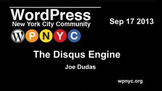 The Disqus Engine -  Joe Dudas
