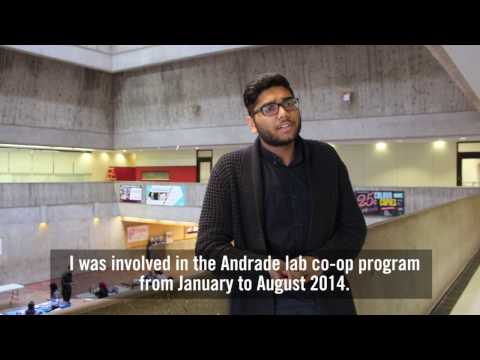 High school students complete co-op placements in U of T Scarborough's Andrade Lab: Rishawn