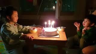 [구남매] 누나 생일 축하하는 동생