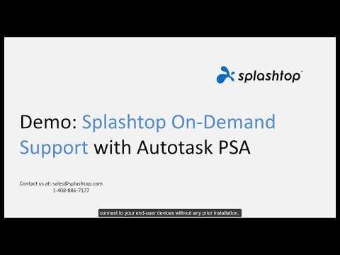 Splashtop SOS avec Autotask PSA