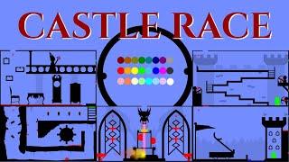 24 Marble Race EP. 17: Castle Race (by Algodoo)