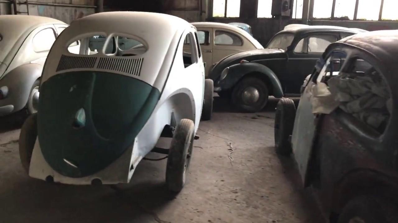 Classic VW BuGs Vintage Split Oval Window Garage Barn Find Stash In Bulgaria Eastern Europe
