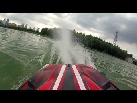 Traxxas Spartan RC Boat run in Jinji Lake Suzhou China,FPV