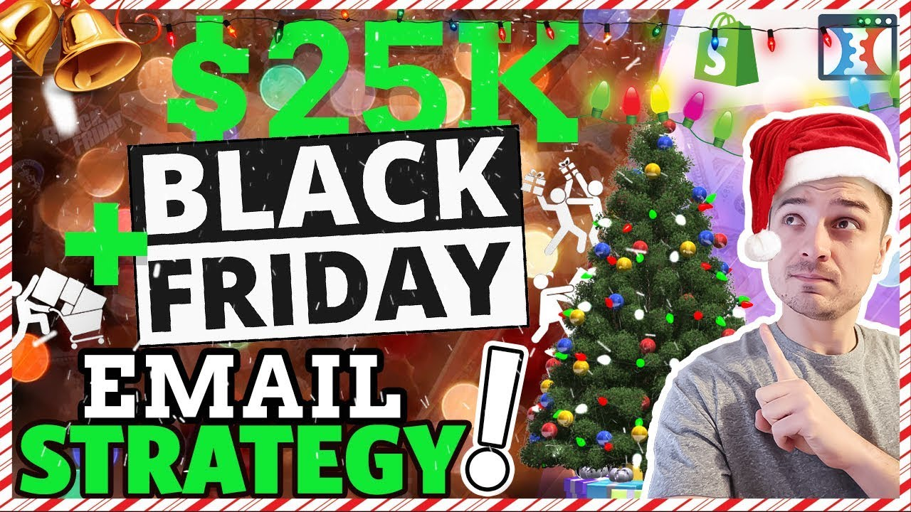 BLACK FRIDAY & CYBER MONDAY SHOPIFY DROPSHIPPING EMAIL STRATEGY TO CRUSH Q4 SALES!
