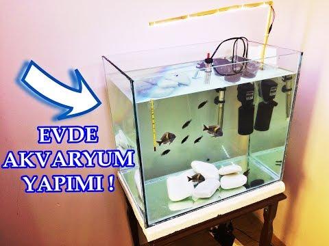EVDE AKVARYUM YAPIMI | Pratik Üretim Akvaryumu | DIY Aquarium