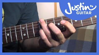 Mini Blues Chord Grips (Blues Rhythm Guitar - Guitar Lesson BL-208) How to play