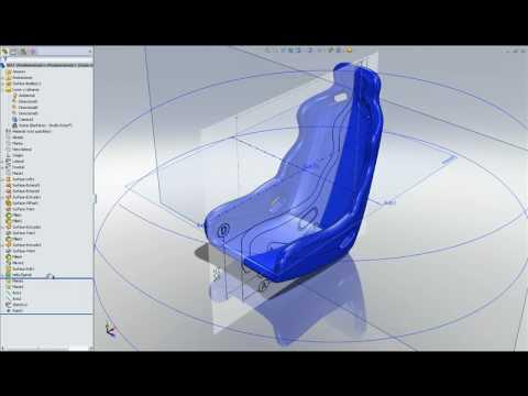 SolidWorks asiento deportivoavi  YouTube