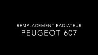 Remplacer le radiateur de chauffage sur Peugeot 607